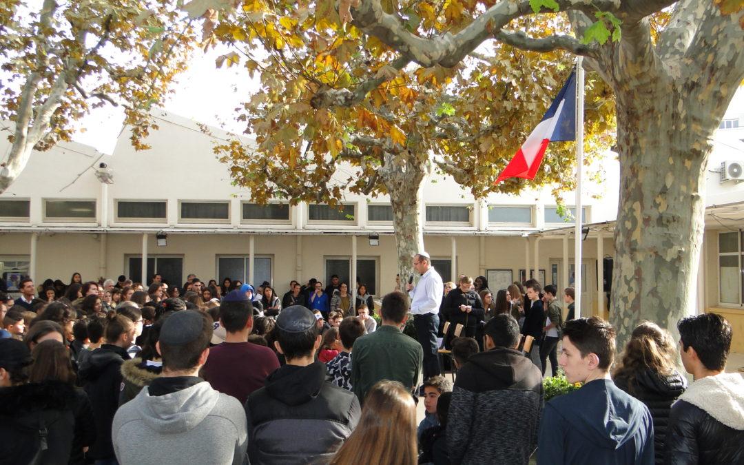Commémoration du 11 Novembre 1918 à l' ORT Marseille